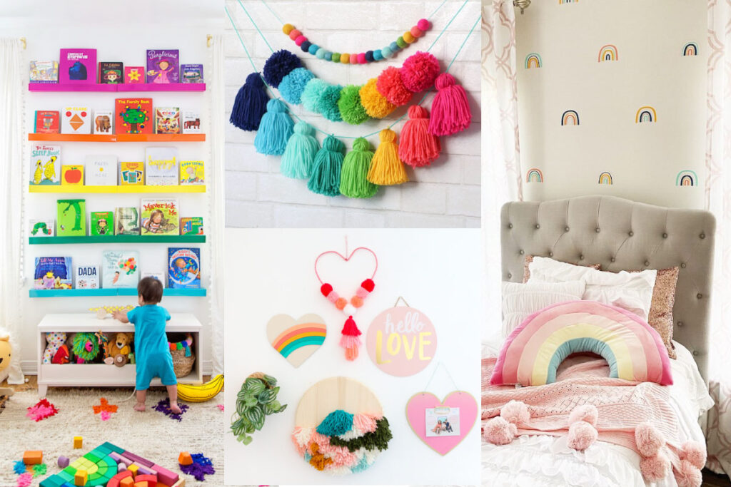 rainbow nursery photo collage
