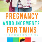 twin pregnancy announcement pin image