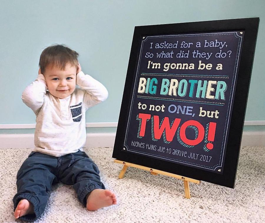 big brother announcing twin pregnancy
