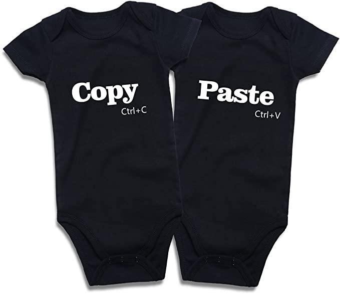 twin bodysuits - copy paste