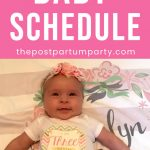 3 month baby schedule pin