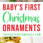 Baby's First Christmas Ornaments Pin