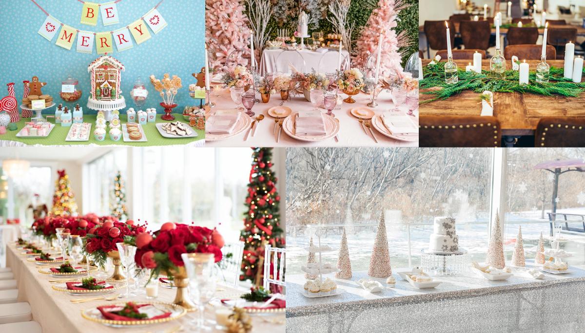 winter baby shower collage
