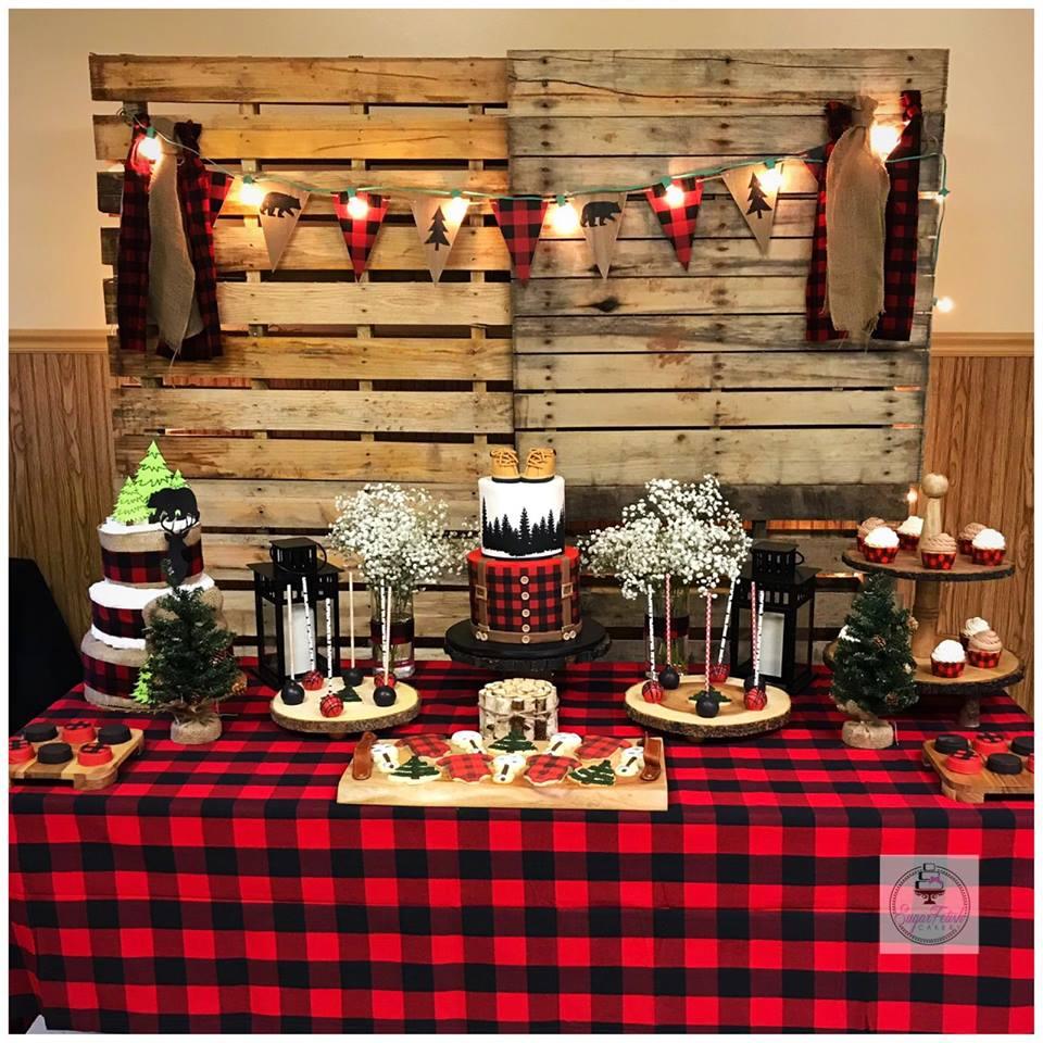 lumberjack themed baby shower