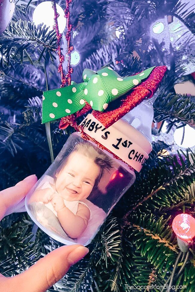 baby bottle DIY Christmas ornament