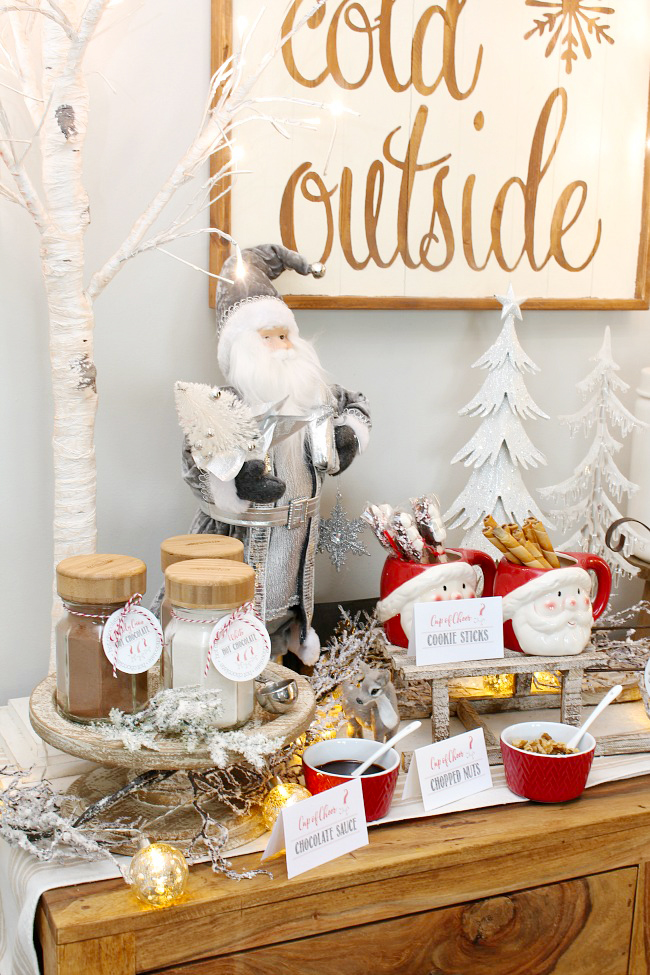 hot cocoa bar for baby shower