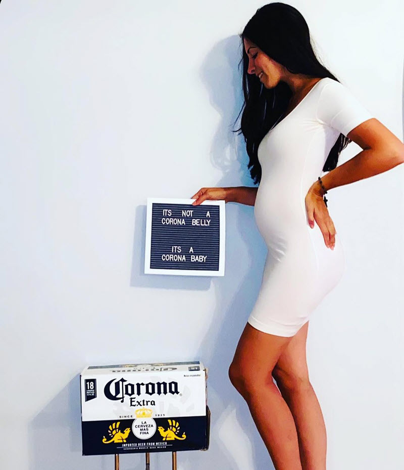 funny pregnancy announcement with corona beer