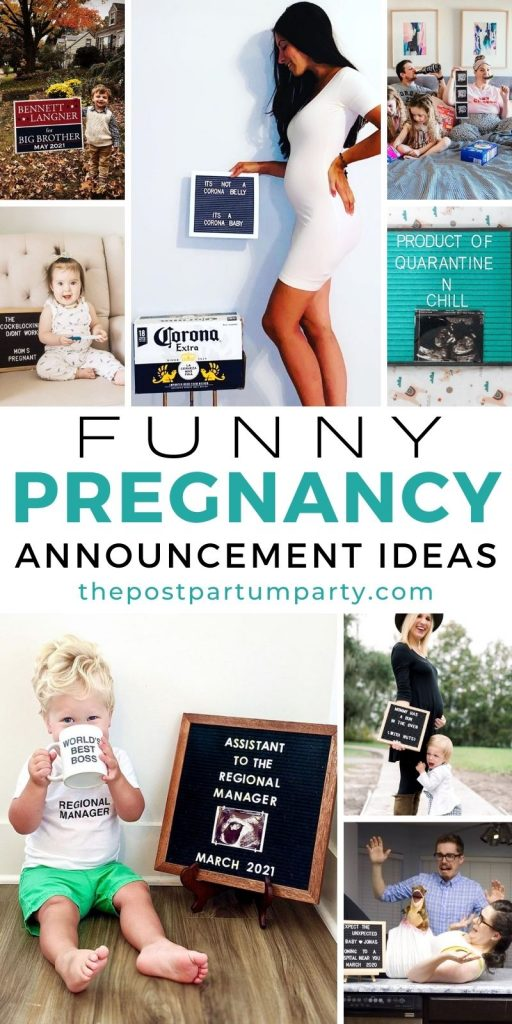 funny pregnancy announcement pin image