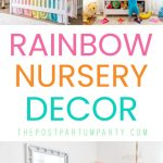 rainbow nursery decor pin