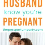 ways to tell your husband you're pregnant