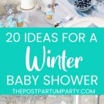 winter baby shower pin image