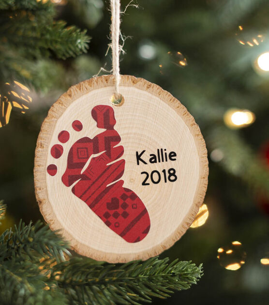 footprint ornament - DIY babys first christmas