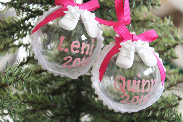baby shoes Christmas ornament