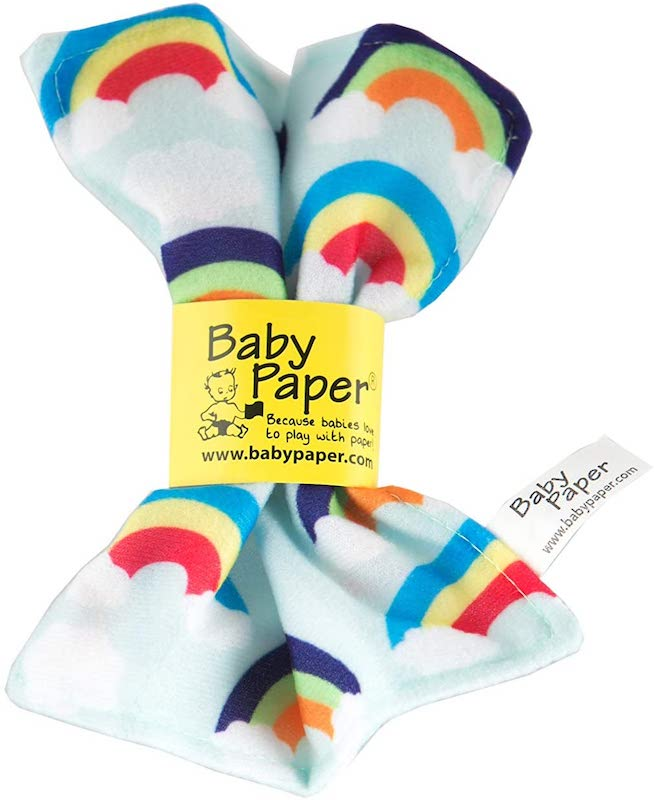 baby paper stocking stuffer toy