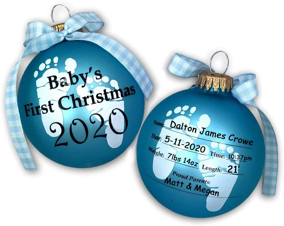 baby birth stats Christmas ornament