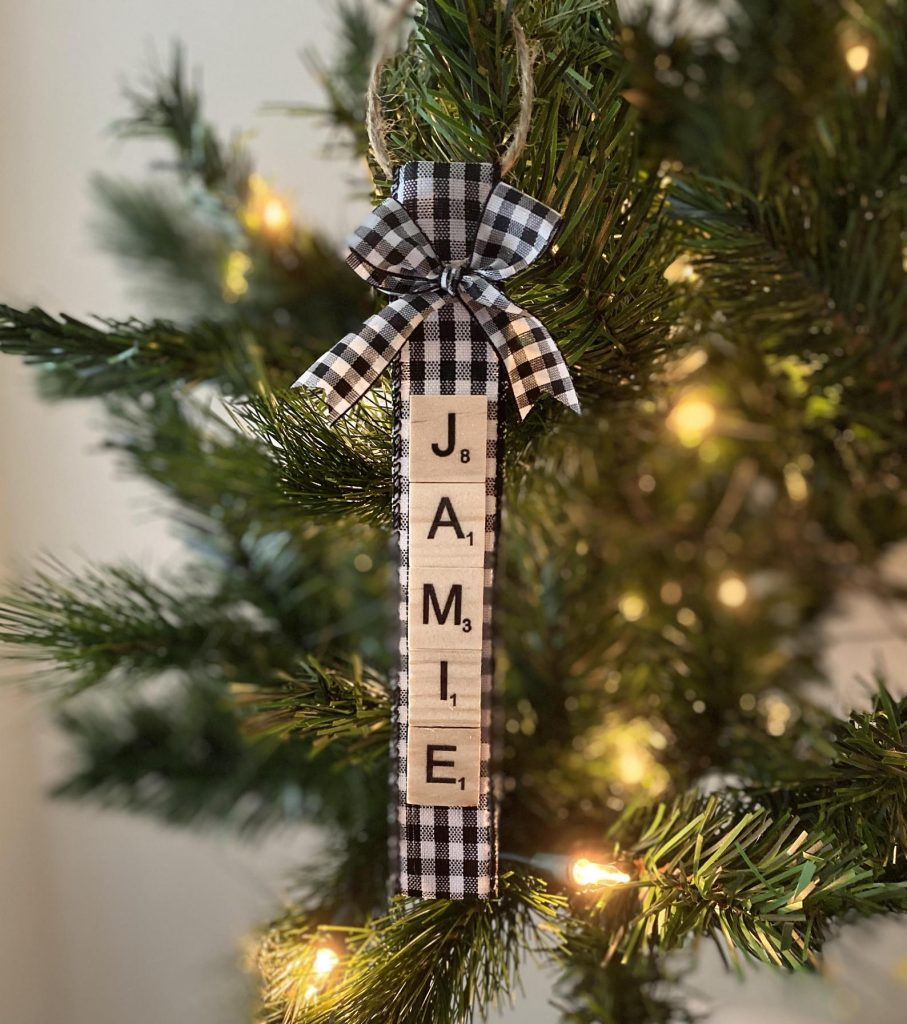 Scrabble ornament for Christmas ornament