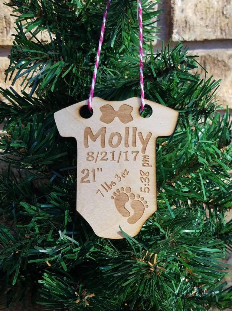DIY babys first christmas ornament