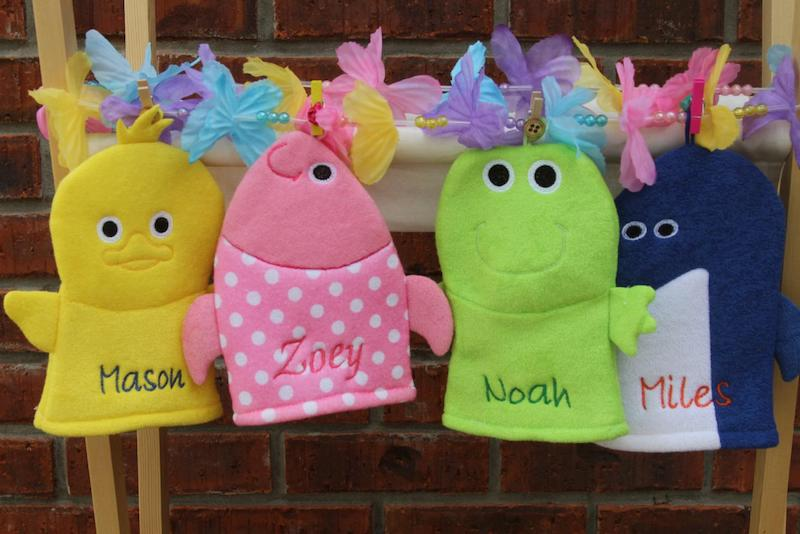 bath mitts for kids - stocking stuffer idea