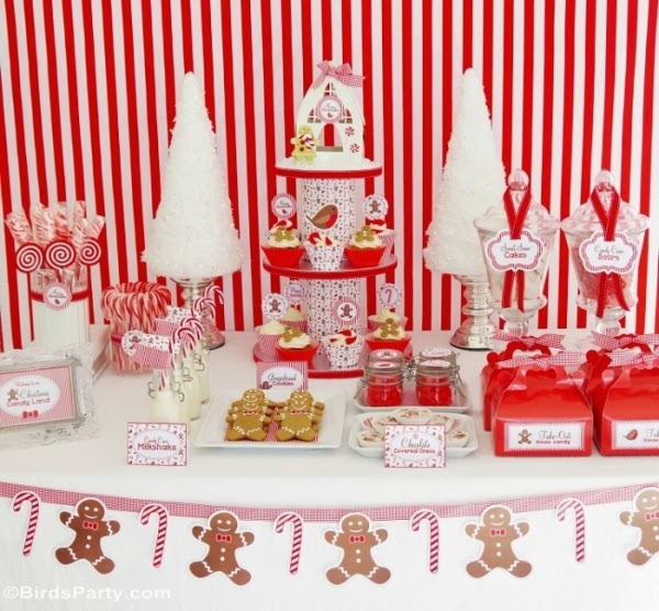 Christmas baby shower - Candy