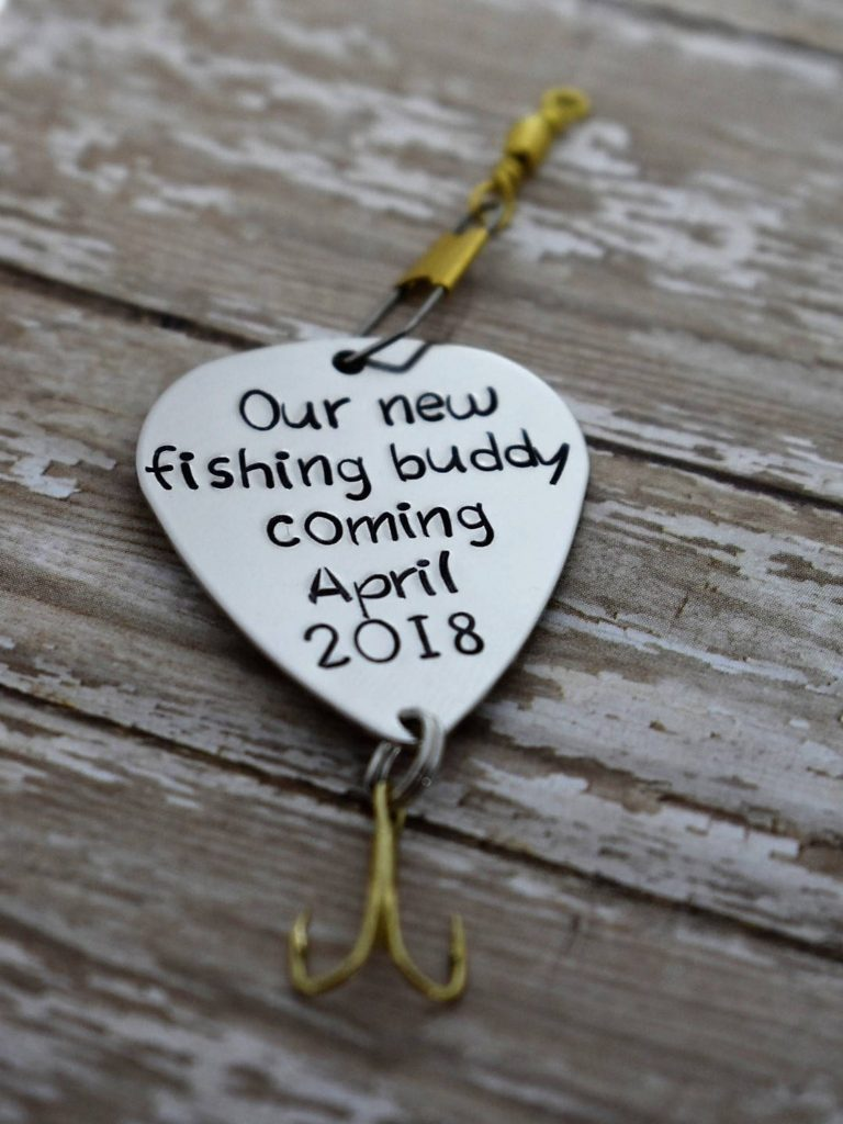 ways to tell husband you're pregnant - fishing hook
