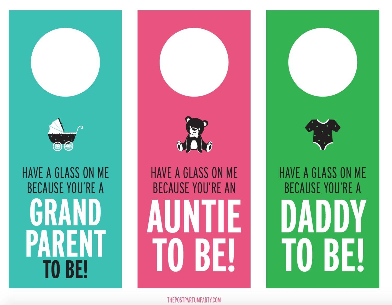 pregnancy announcement wine labels