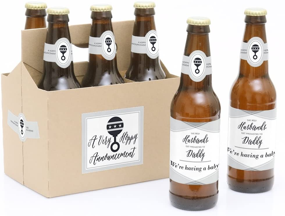 custom beer labels to announce pregnancy to husband
