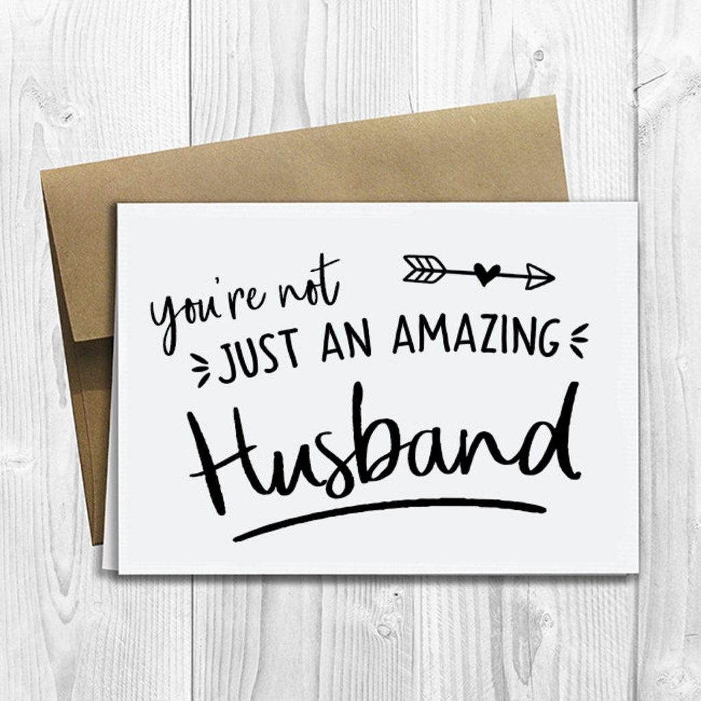 ways to tell husband you're pregnant - greeting card
