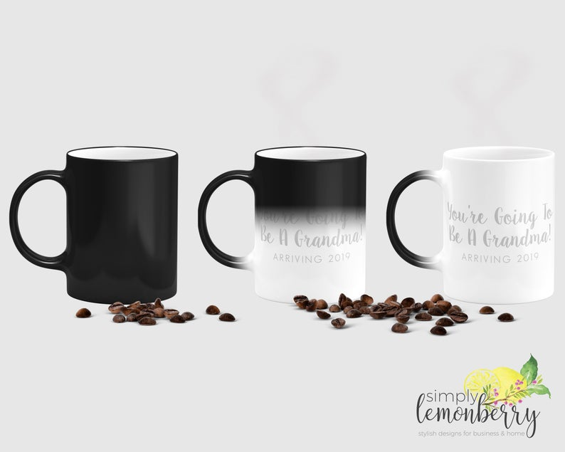color changing coffee mug - cute way to tell husband you're pregnant