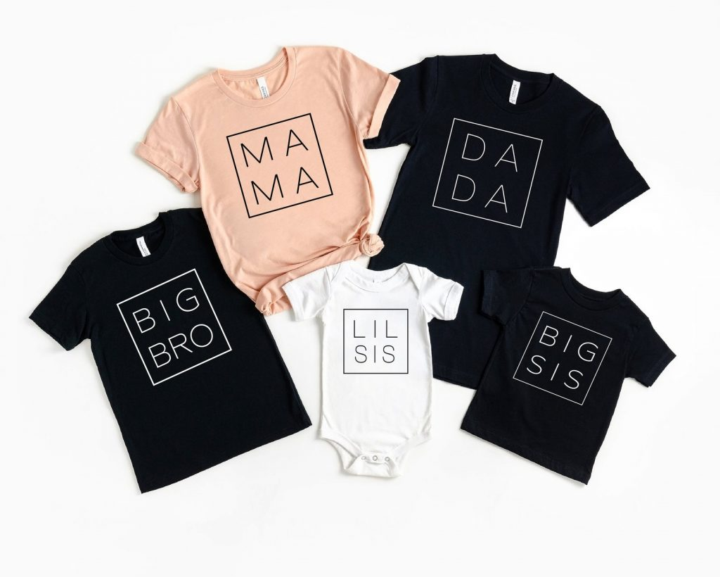 family shirts - ways to tell husband you're pregnant