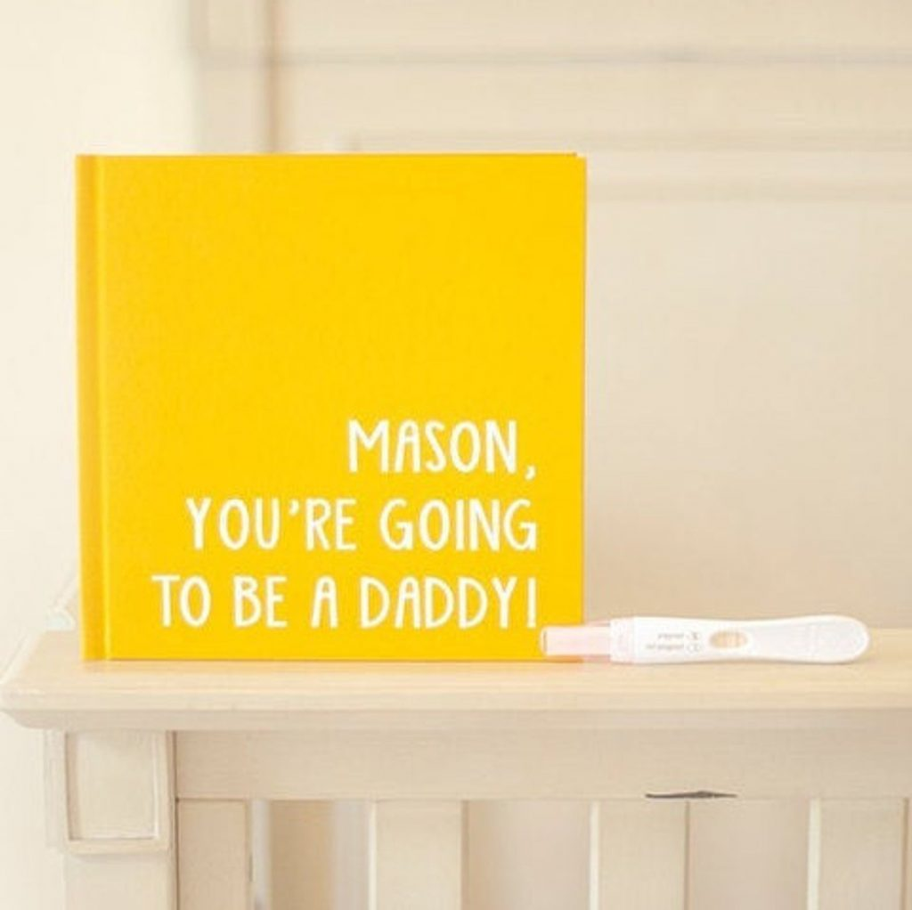custom daddy book - ways to tell husband you're pregnant