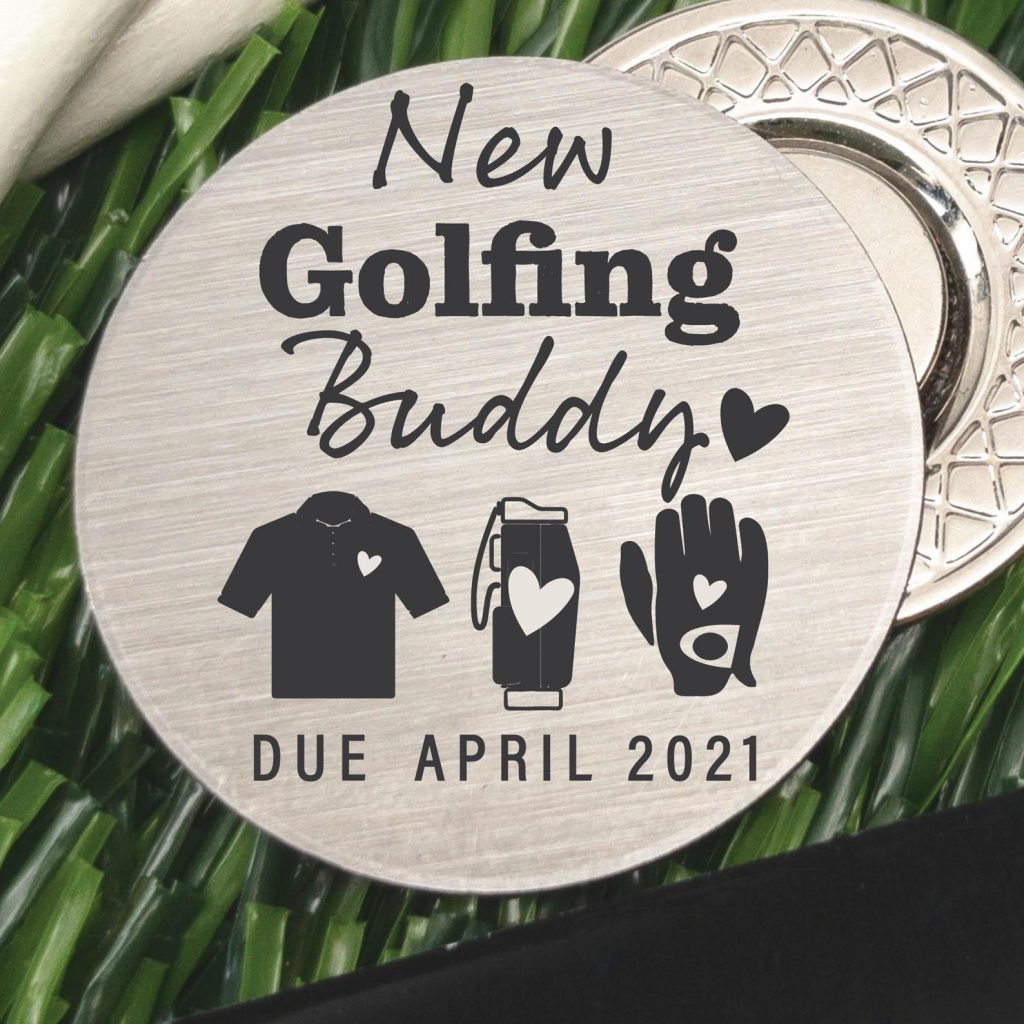 golf ball marker - cute ways to tell husband you're pregnant