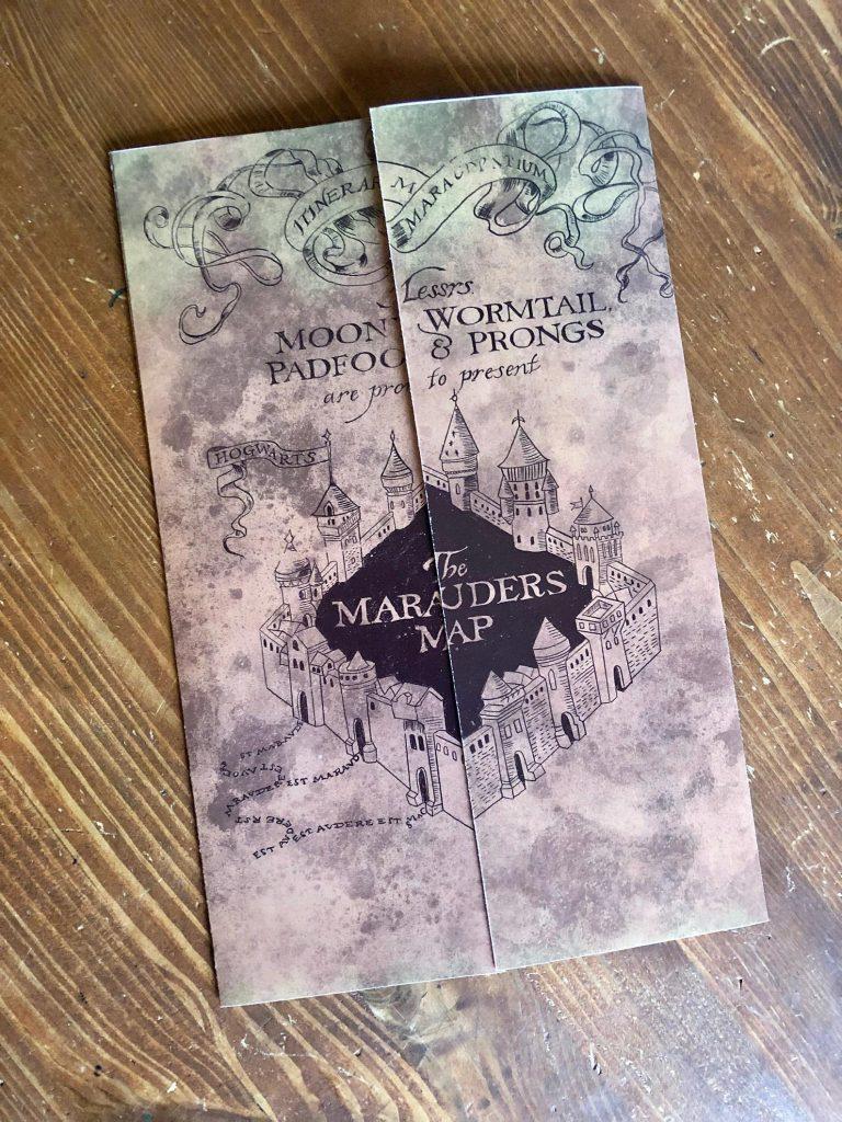 Harry Potter Marauder's Map pregnancy announcement