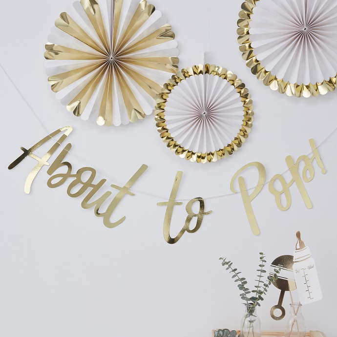 winter baby shower - gold decor