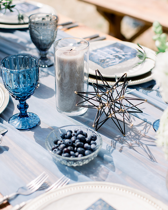 winter baby shower tablescape