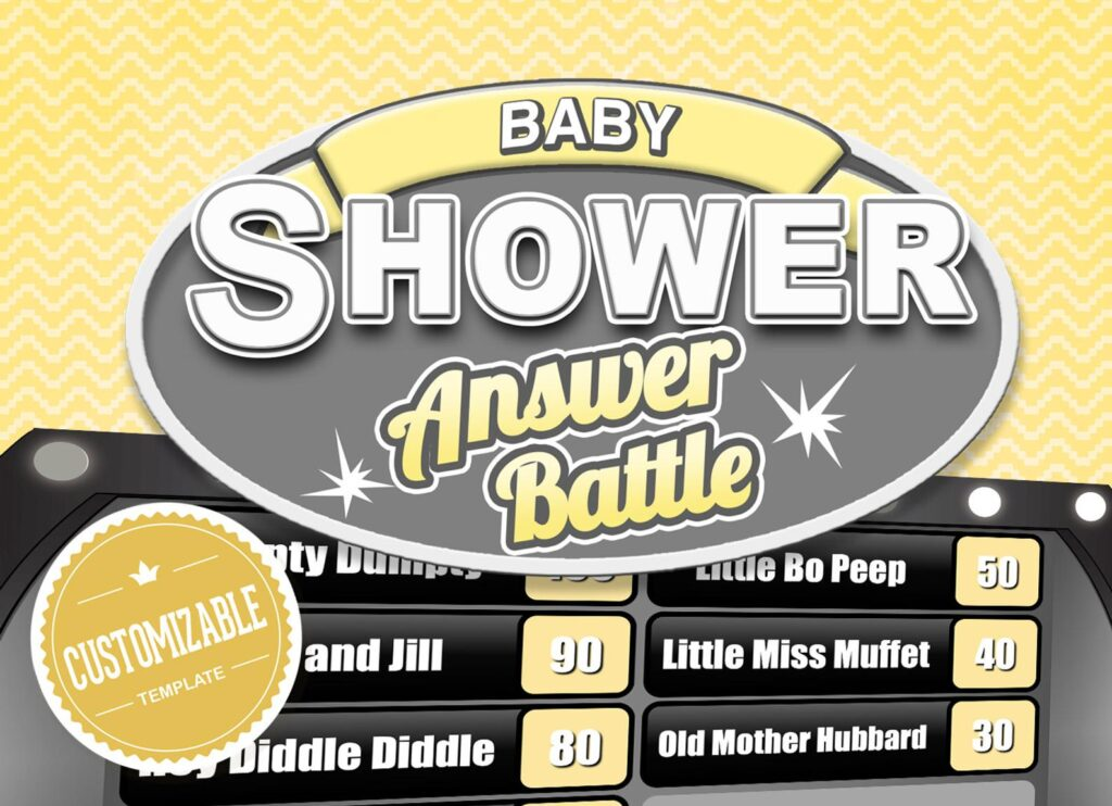 baby shower game - family feud