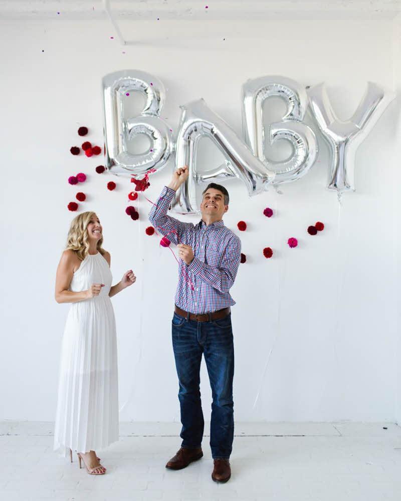 Valentine's pregnancy announcement
