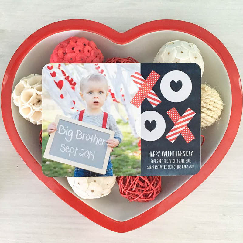 Valentine's Day pregnancy announcement