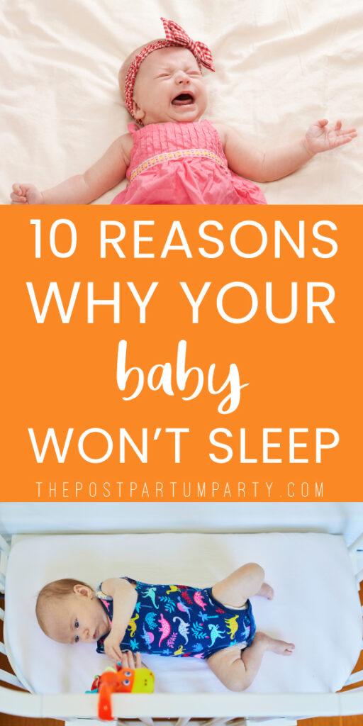 baby won't sleep pin image