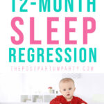 12 month sleep regression pin image