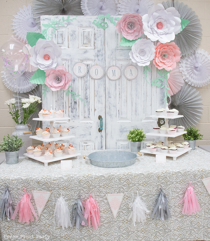 vintage baby shower theme for baby girl