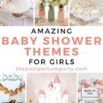 baby shower themes for girls pin image