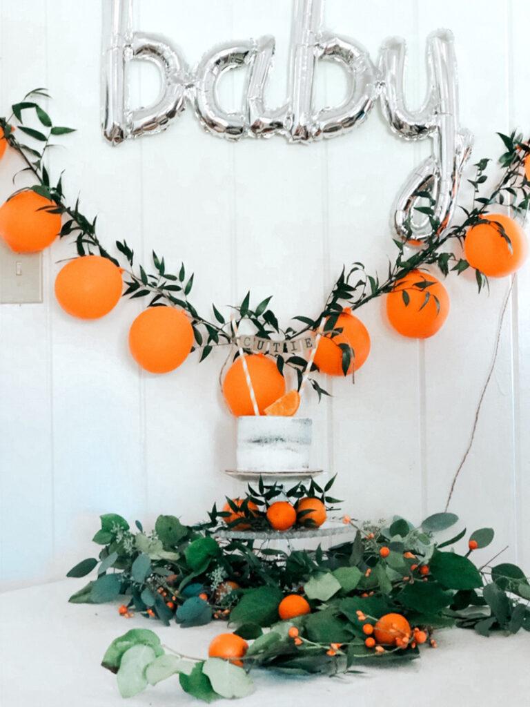 clementine baby shower theme