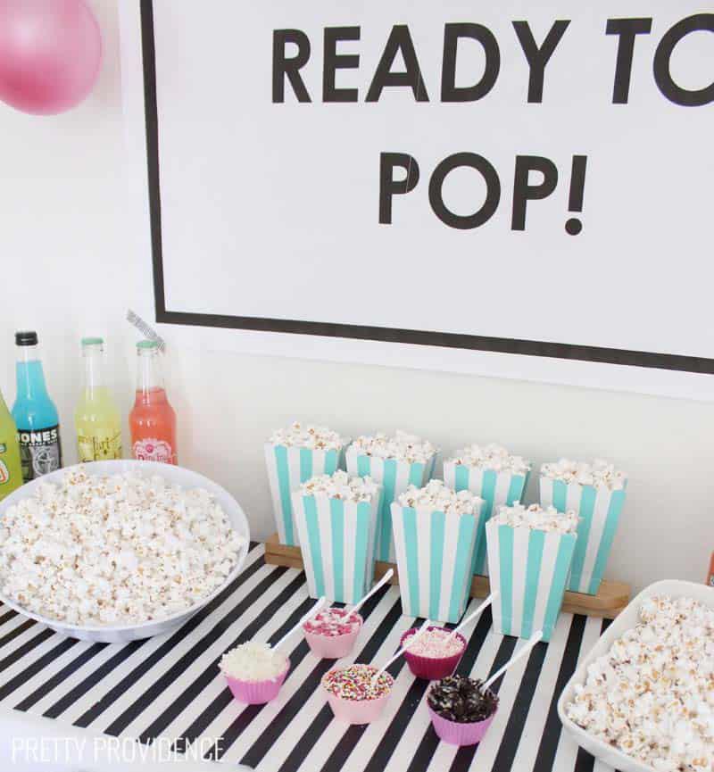 popcorn themed baby shower