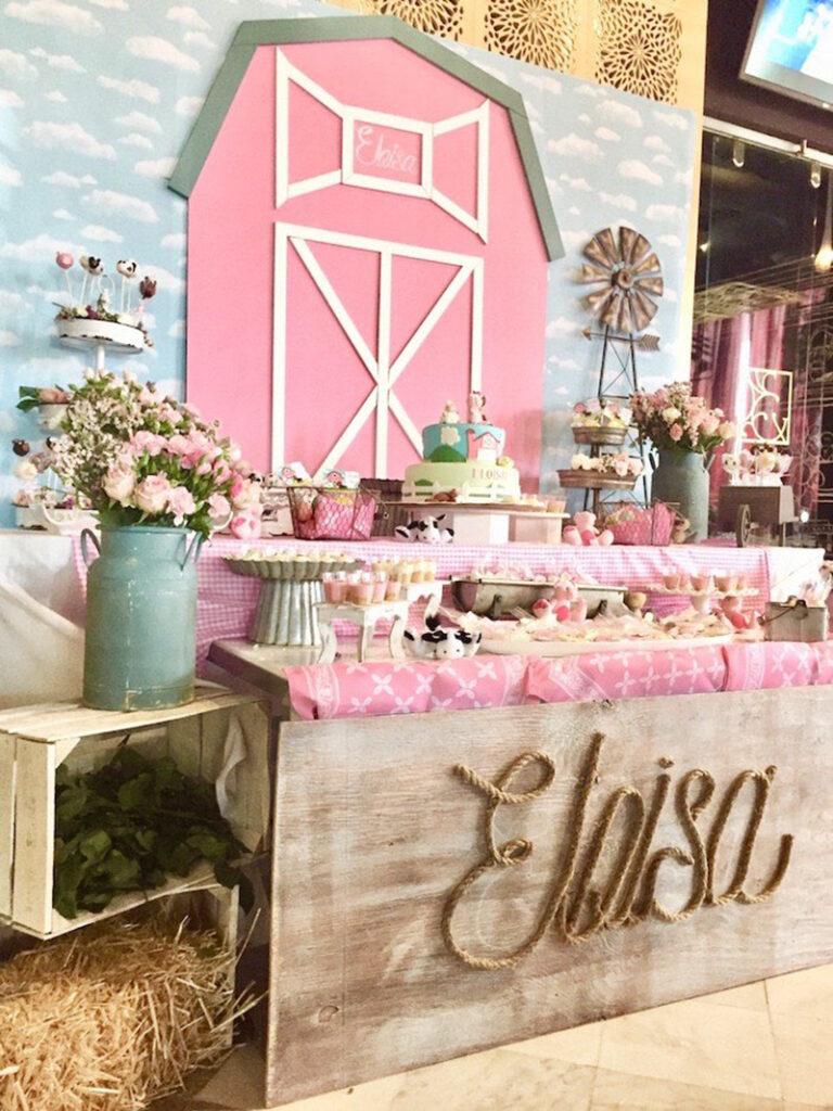 farm girl baby shower theme