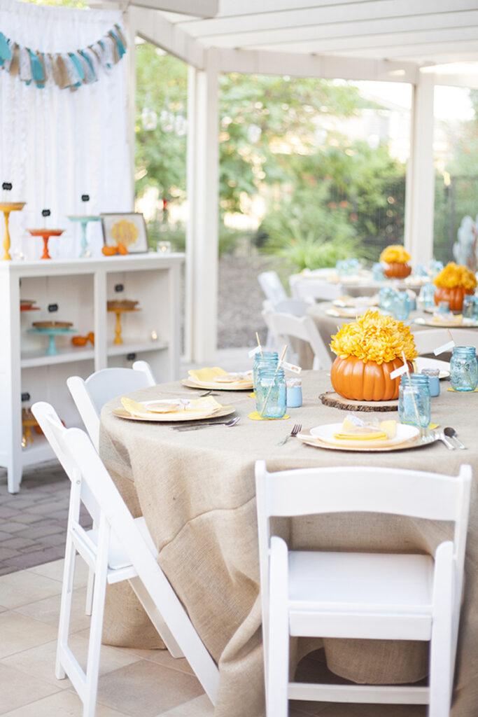 little pumpkin baby shower centerpieces