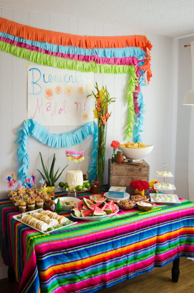 fiesta baby shower theme