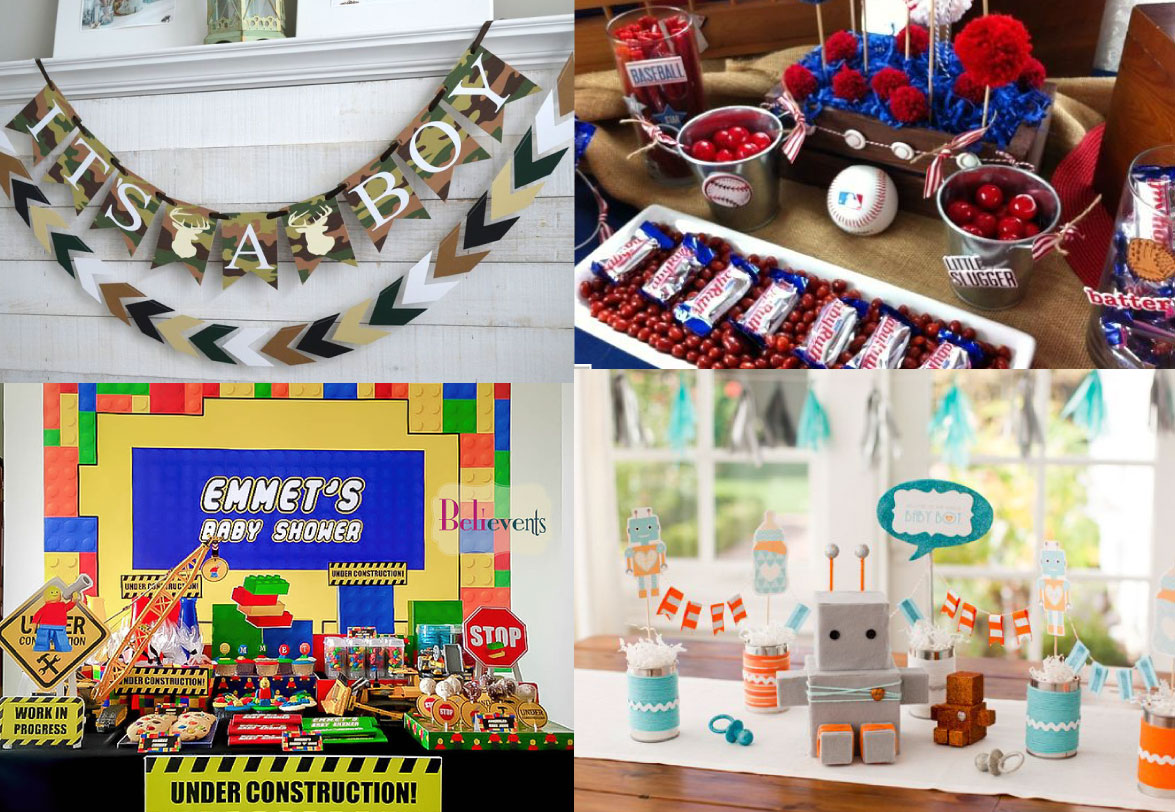 baby shower themes for boys collage