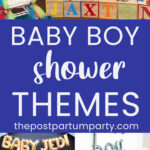 baby shower themes for boys pin image