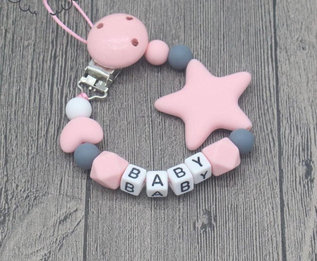 baby personalized pacifier clip