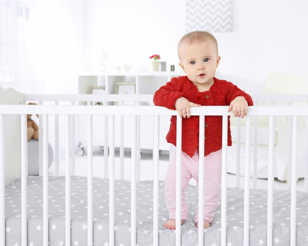 12-month sleep regression due to baby practicing new skills